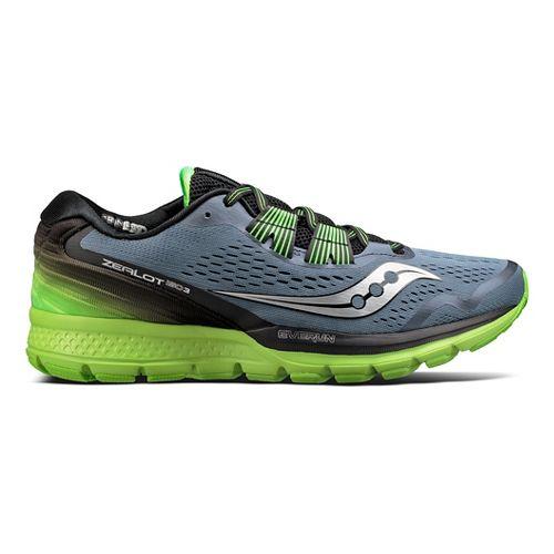 Mens Saucony Zealot ISO 3 Running Shoe - Grey/Slime 8.5