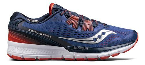 Mens Saucony Zealot ISO 3 Running Shoe - Blue/Orange 7