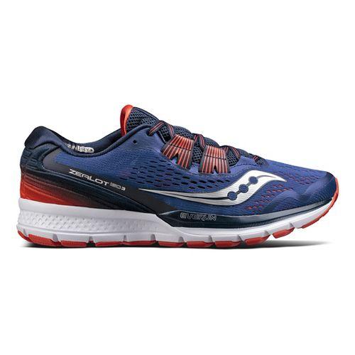 Mens Saucony Zealot ISO 3 Running Shoe - Blue/Orange 14