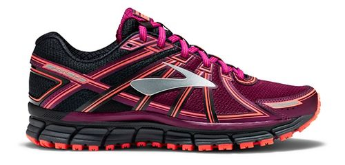 Womens Brooks Adrenaline ASR 14 Trail Running Shoe - Black/Purple 6.5
