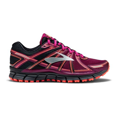 Womens Brooks Adrenaline ASR 14 Trail Running Shoe - Black/Purple 12
