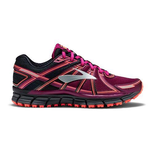 Womens Brooks Adrenaline ASR 14 Trail Running Shoe - Black/Purple 9.5