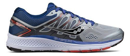 Mens Saucony Omni 16 Running Shoe - Grey/Navy 8