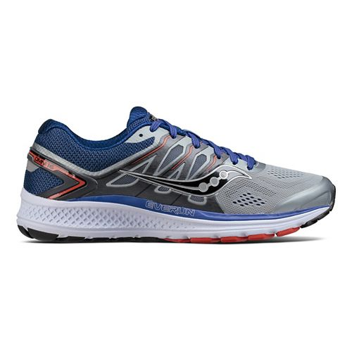 Mens Saucony Omni 16 Running Shoe - Grey/Navy 11