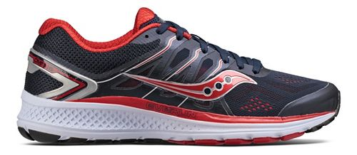 Mens Saucony Omni 16 Running Shoe - Navy/Red 7.5