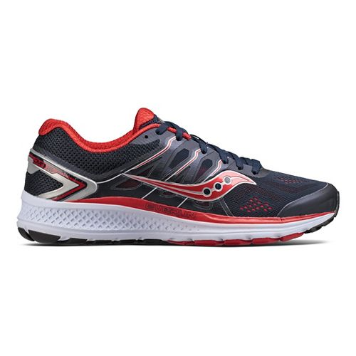 Mens Saucony Omni 16 Running Shoe - Navy/Red 8.5