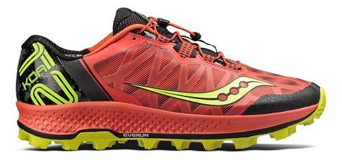 Mens Saucony Koa ST Trail Running Shoe - Orange/Citron 12