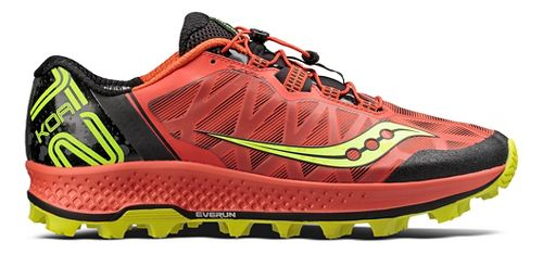 Mens Saucony Koa ST Trail Running Shoe - Orange/Citron 14