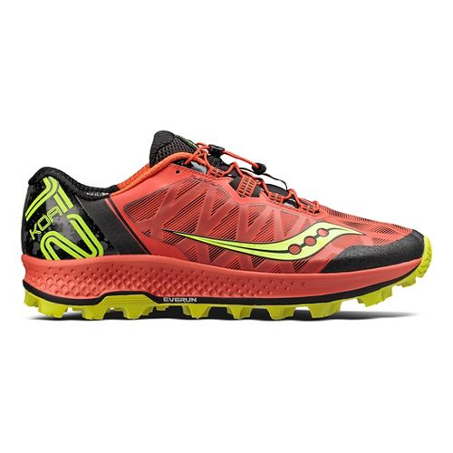 Mens Saucony Koa ST Trail Running Shoe - Orange/Citron 9