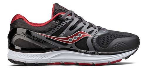 Mens Saucony Redeemer ISO 2 Running Shoe - Black/Red 10.5