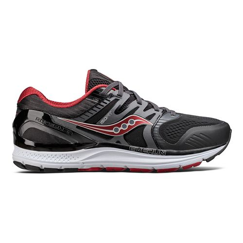 Mens Saucony Redeemer ISO 2 Running Shoe - Black/Red 7.5