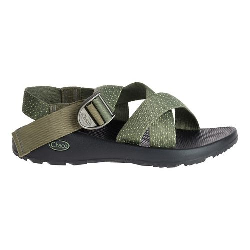 Mens Chaco Mega Z Classic Sandals Shoe - Green 9