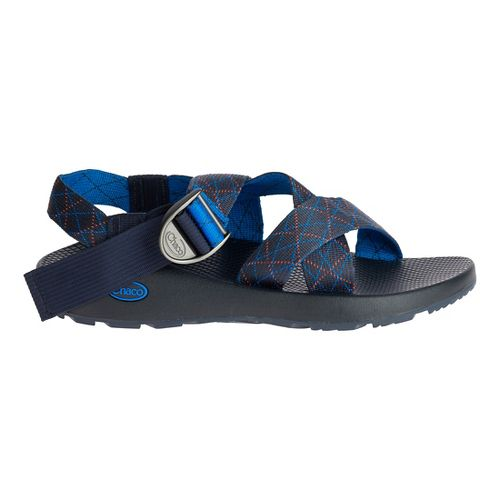 Mens Chaco Mega Z Classic Sandals Shoe - Rhombus Blue 9