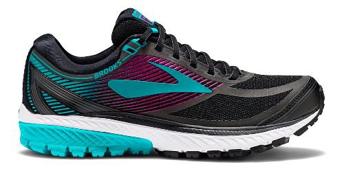 Womens Brooks Ghost 10 GTX Running Shoe - Black/Green 9