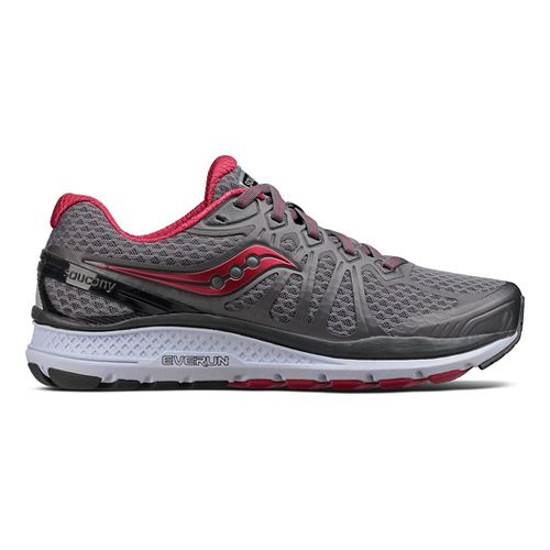 Womens Saucony Echelon 6 Running Shoe - Grey/Pink 6.5