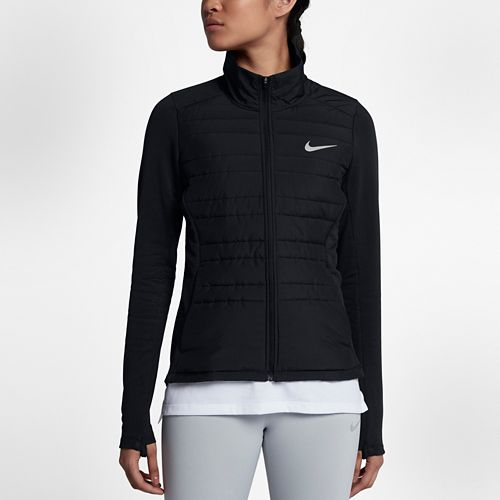 Womens Nike Filled Essential Jackets - Black L