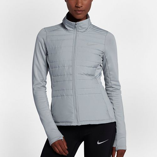 Womens Nike Filled Essential Jackets - Wolf Grey L