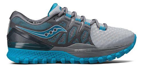 Womens Saucony Xodus ISO 2 Trail Running Shoe - Grey/Blue 11.5