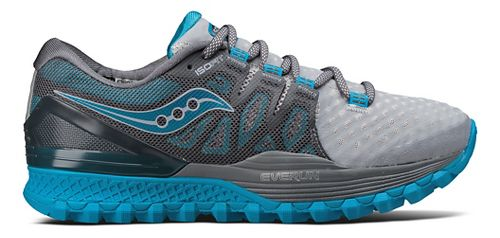 Womens Saucony Xodus ISO 2 Trail Running Shoe - Grey/Blue 9