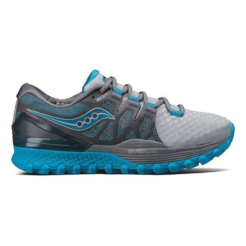 Womens Saucony Xodus ISO 2 Trail Running Shoe - Grey/Blue 5.5