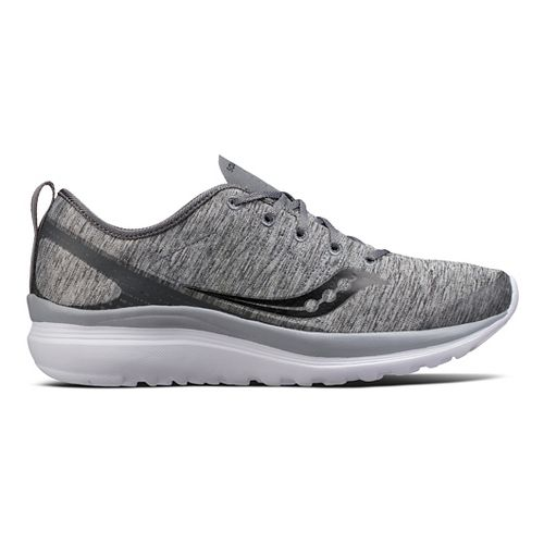Womens Saucony Swivel Casual Shoe - Grey Heather 8.5