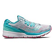 Womens Saucony Zealot ISO 3 Running Shoe - Grey/Blue 10.5