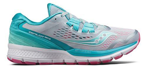 Womens Saucony Zealot ISO 3 Running Shoe - Grey/Blue 10.5