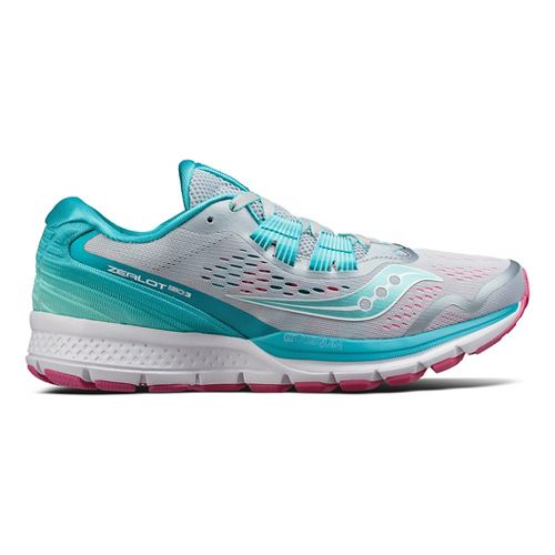 Womens Saucony Zealot ISO 3 Running Shoe - Grey/Blue 6.5