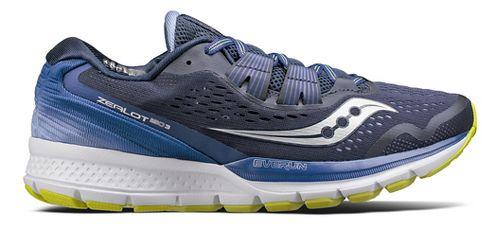 Womens Saucony Zealot ISO 3 Running Shoe - Navy/Purple 11.5