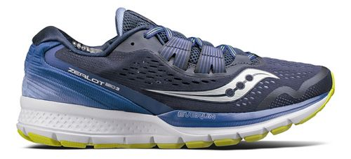 Womens Saucony Zealot ISO 3 Running Shoe - Navy/Purple 6