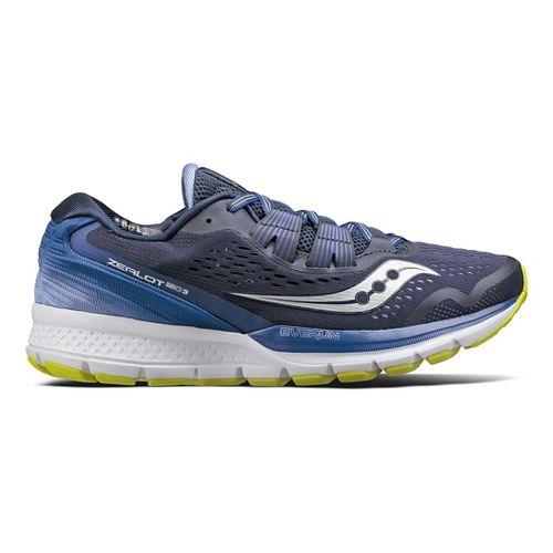 Womens Saucony Zealot ISO 3 Running Shoe - Navy/Purple 8