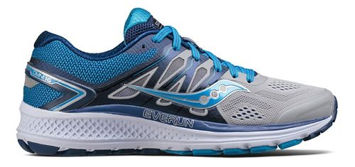 Womens Saucony Omni 16 Running Shoe - Grey/Blue 10