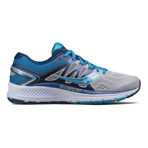 Womens Saucony Omni 16 Running Shoe - Grey/Blue 10