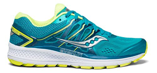 Womens Saucony Omni 16 Running Shoe - Teal/Citron 11