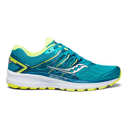 Womens Saucony Omni 16 Running Shoe - Teal/Citron 6.5