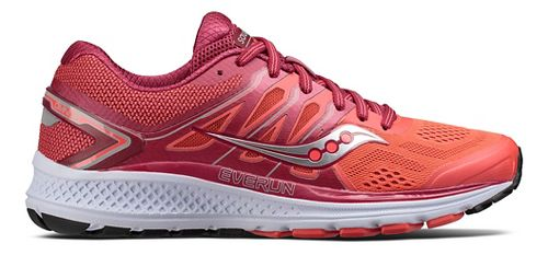 Womens Saucony Omni 16 Running Shoe - Berry/Coral 7