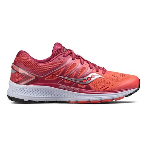 Womens Saucony Omni 16 Running Shoe - Berry/Coral 8.5