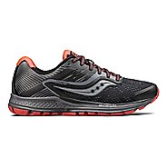 Womens Saucony Ride 10 Reflex Running Shoe - Black/Coral 5