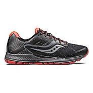 Womens Saucony Ride 10 Reflex Running Shoe - Black/Coral 6