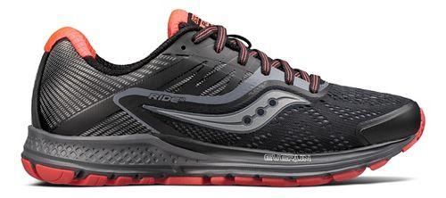 Womens Saucony Ride 10 Reflex Running Shoe - Black/Coral 6.5