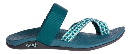 Womens Chaco Tetra Cloud Sandals Shoe - Madras Teal 10