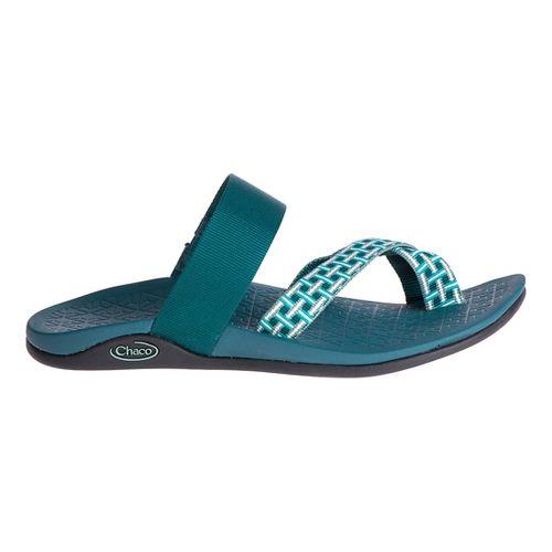 Womens Chaco Tetra Cloud Sandals Shoe - Madras Teal 9
