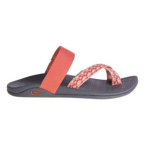 Womens Chaco Tetra Cloud Sandals Shoe - Light/Pastel Orange 9