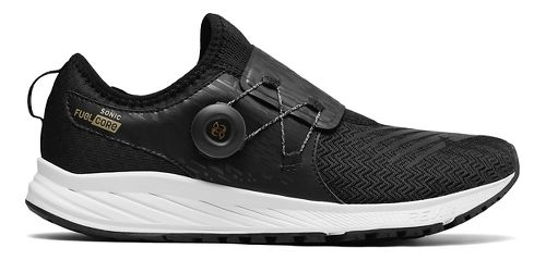 Mens New Balance Sonic v1 Running Shoe - Black/Gold 8.5