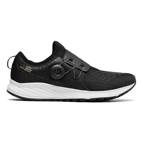 Mens New Balance Sonic v1 Running Shoe - Black/Gold 8.5
