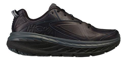 Mens Hoka One One Bondi Leather Walking Shoe - Charcoal 9