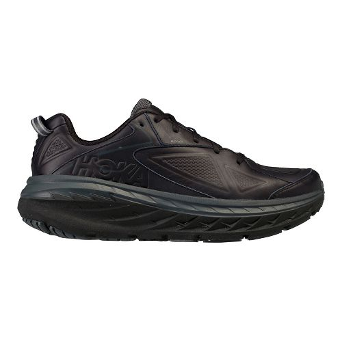 Mens Hoka One One Bondi Leather Walking Shoe - Black 8
