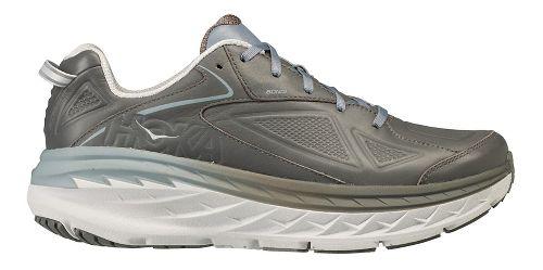 Mens Hoka One One Bondi Leather Walking Shoe - Charcoal 12