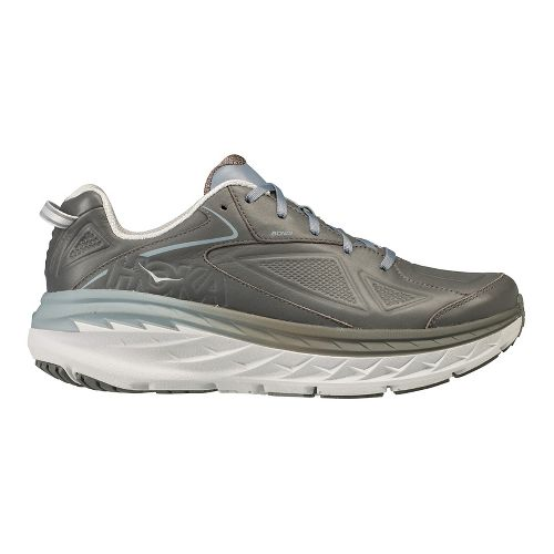 Mens Hoka One One Bondi Leather Walking Shoe - Charcoal 11
