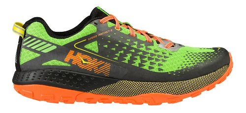Mens Hoka One One Speed Instinct 2 Trail Running Shoe - Green/Black 13